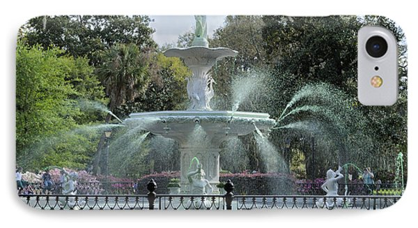 Green Forsyth Park Fountain IPhone Case