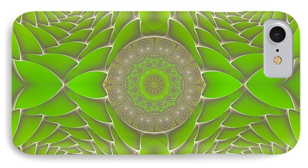 Green Fractal Jewel IPhone Case