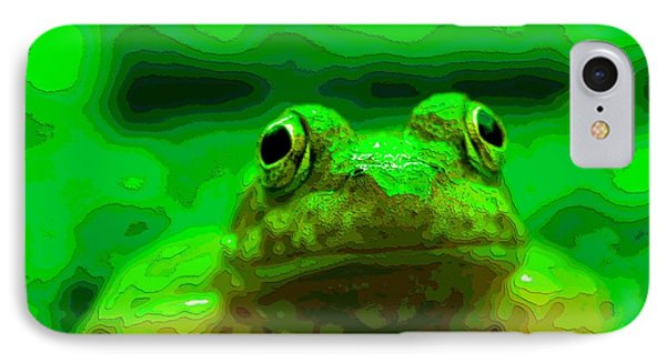 Green Frog Poster IPhone Case by Dan Sproul