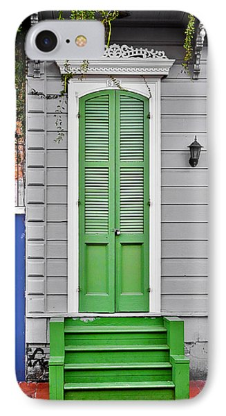 Green Front Door New Orleans IPhone Case by Christine Till