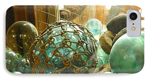 Green Glass Japanese Glass Floats Phone Case by Artist and Photographer Laura Wrede
