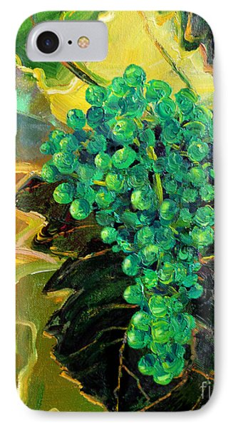 IPhone Case featuring the painting Green Grapes by Cheryl Del Toro