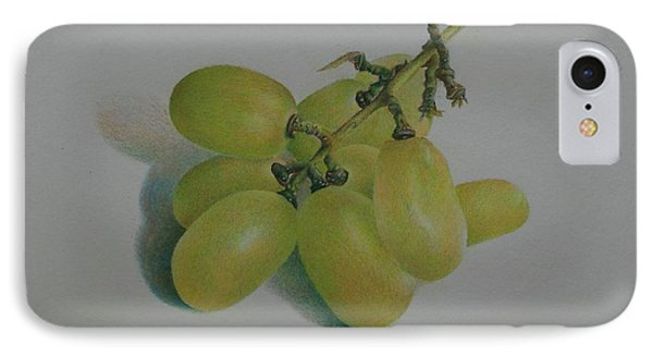 IPhone Case featuring the painting Green Grapes by Pamela Clements