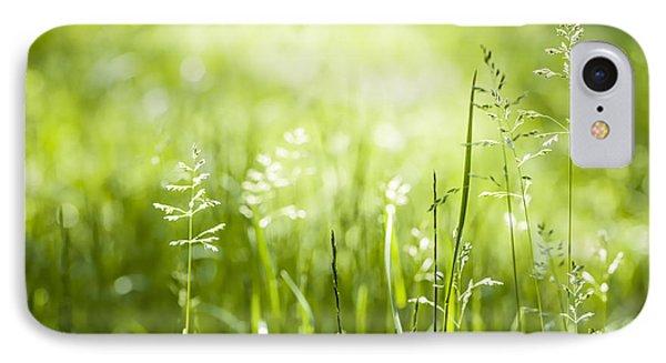 Green Grass Flowering IPhone Case