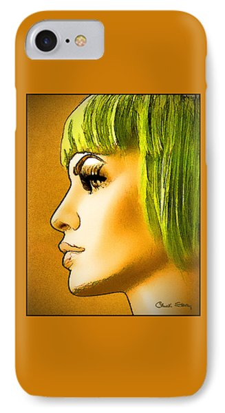 Green Hair IPhone Case by Chuck Staley