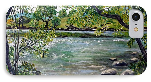 Green Hill Park On The Roanoke River IPhone Case by Julie Brugh Riffey