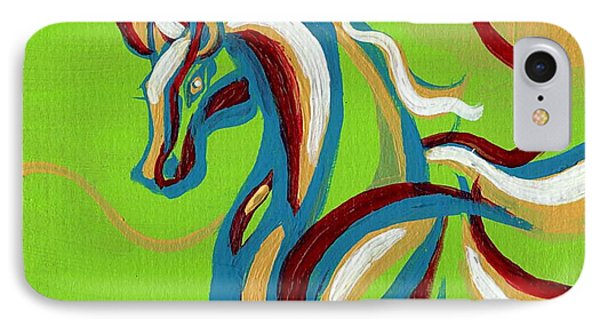 Green Horse IPhone Case by Genevieve Esson