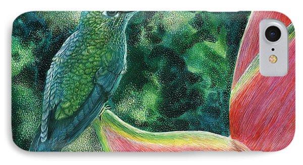 Green Hummingbird IPhone Case by Sandra LaFaut