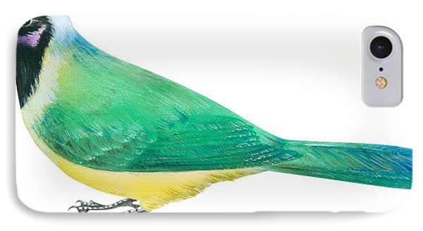 Green Jay Phone Case by Anonymous