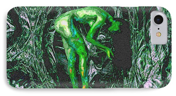 IPhone Case featuring the painting Gaia Earthly Goddess Nymph Farie Mother Earth Fine Art Print by David Mckinney