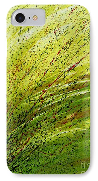 IPhone Case featuring the painting Green Landscape - Abstract Art  by Ismeta Gruenwald