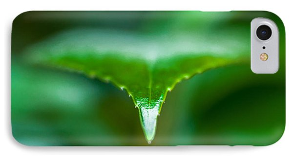 Green Leaf IPhone Case by Todd Soderstrom