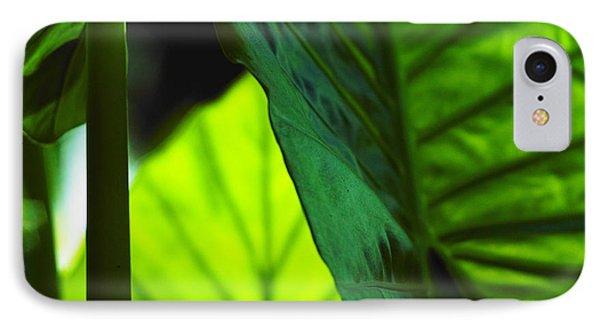 Green Leaf Trilogy I IPhone Case