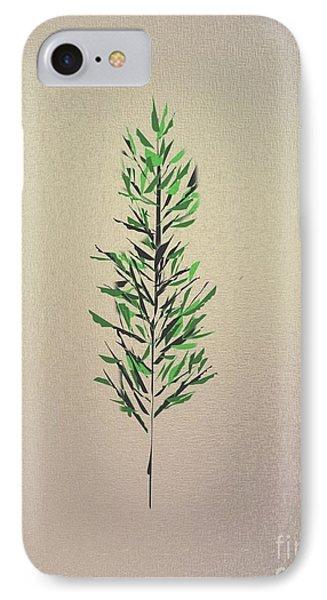 Green Leaves Phone Case by John Krakora