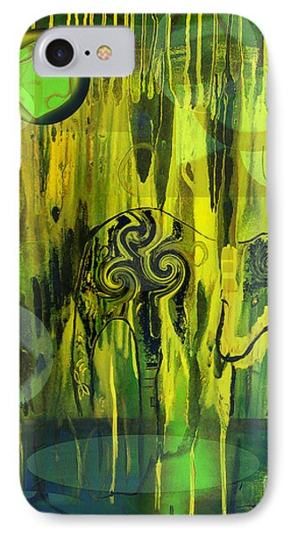 IPhone Case featuring the painting Green Light by Yul Olaivar