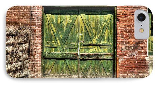 Green Loading Dock Door - Housatonic IPhone Case