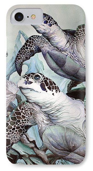 Green Loggerhead IPhone Case by William Love