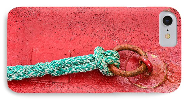 Green Marine Rope On Red Ship Phone Case by Matthias Hauser