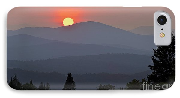 Green Mountain Sunset IPhone Case by Alan L Graham