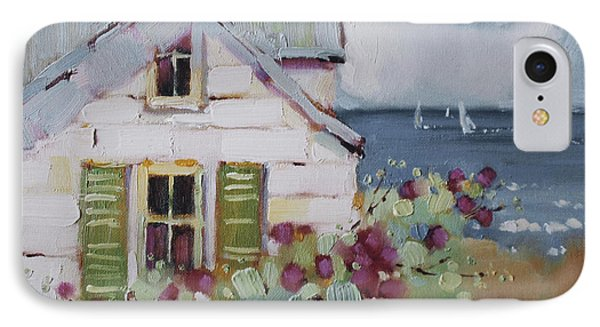 Green Nantucket Shutters IPhone Case by Joyce Hicks