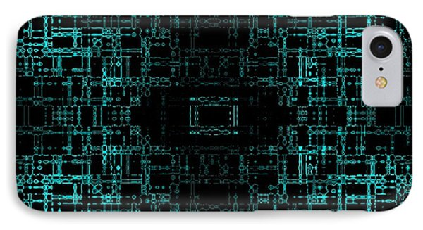 IPhone Case featuring the digital art Green Network by Anita Lewis