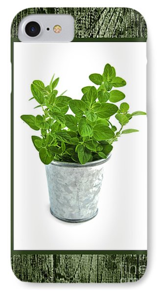 Green Oregano Herb In Small Pot IPhone Case by Elena Elisseeva
