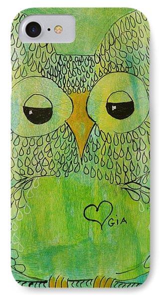 Green Owl IPhone Case