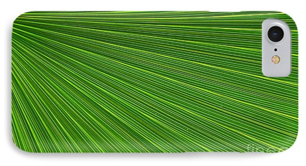 Green Palm Abstract Phone Case by Kathleen Struckle