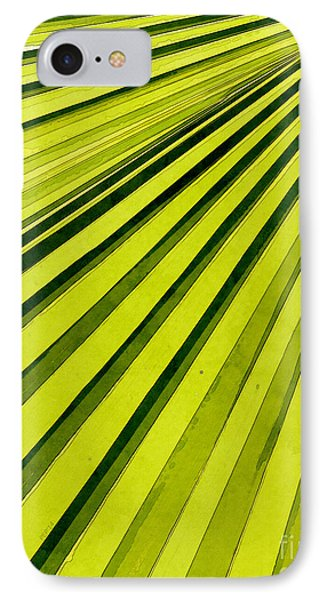 Green Palm Frond IPhone Case by Phil Perkins
