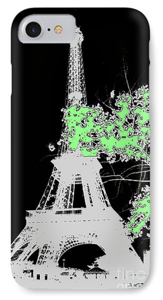 IPhone Case featuring the photograph green Paris green by Yury Bashkin