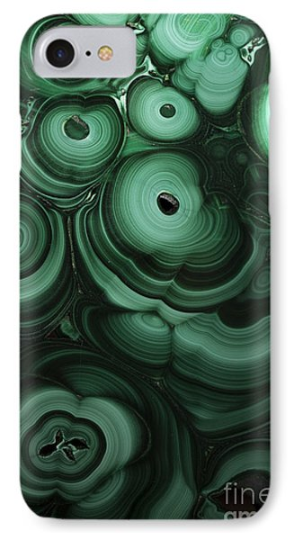 Green Patterns Of Malachite IPhone Case by Jaroslaw Blaminsky
