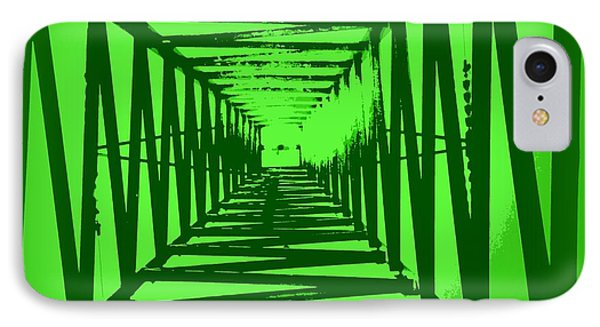 IPhone Case featuring the photograph Green Perspective by Clare Bevan