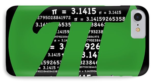 Green Pi IPhone Case by Marianne Campolongo
