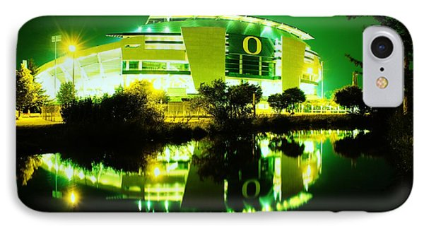 Green Power- Autzen At Night IPhone Case