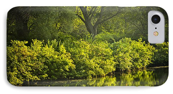 Green Reflections In Water IPhone Case by Elena Elisseeva