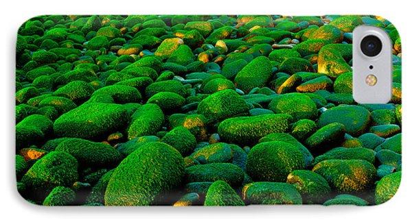 Green Rock IPhone Case by Edgar Laureano
