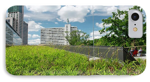 Green Roof IPhone Case by Louise Murray