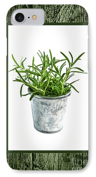 Green Rosemary Herb In Small Pot IPhone Case by Elena Elisseeva