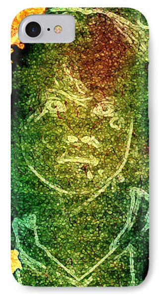 Green Sad Face IPhone Case by Andrea Barbieri