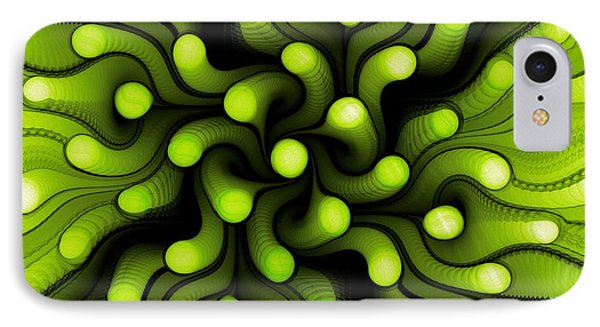 Green Sea Anemone IPhone Case by Anastasiya Malakhova
