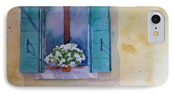 Green Shutters And White Geraniums IPhone Case