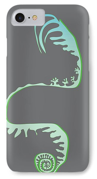 Green Spiral Evolution IPhone Case by Kevin McLaughlin