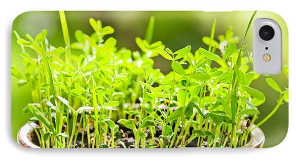 Green Spring Seedlings Phone Case by Elena Elisseeva