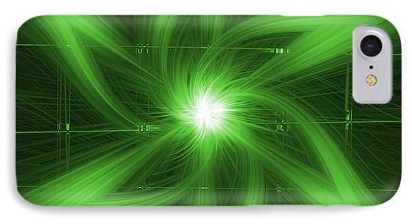 IPhone Case featuring the digital art Green Swirl by Maggy Marsh