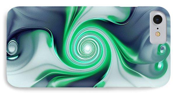Green Swirls Phone Case by Anastasiya Malakhova