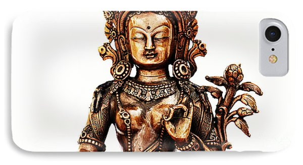 Green Tara Phone Case by Tim Gainey