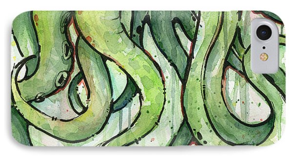 Green Tentacles IPhone Case