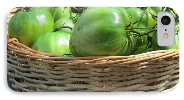 IPhone Case featuring the photograph Green Tomatoes by Tina M Wenger