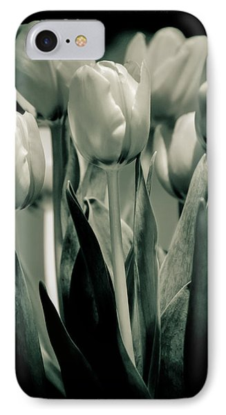 Green Toned Tulip IPhone Case