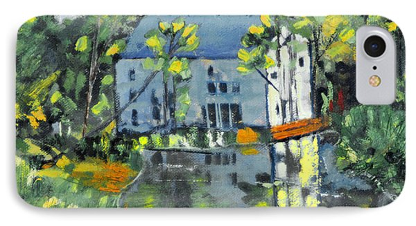 IPhone Case featuring the painting Green Township Mill House by Michael Daniels